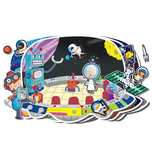 Static Sticker TZ703 Space Exploration
