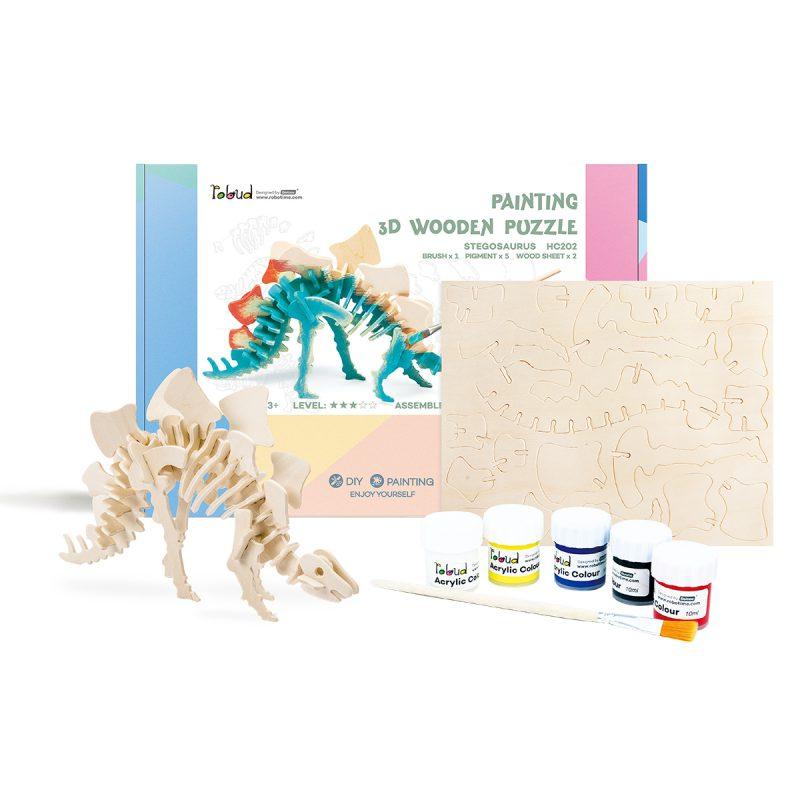 3D painting puzzle HC202 Stegosaurus