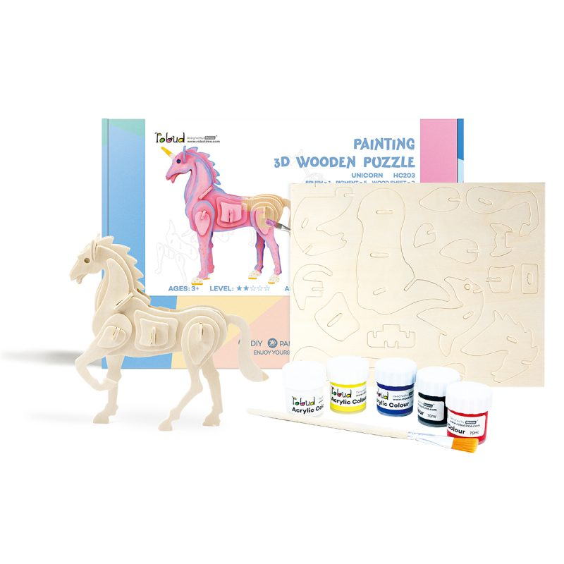 3D painting puzzle HC203 Unicorn