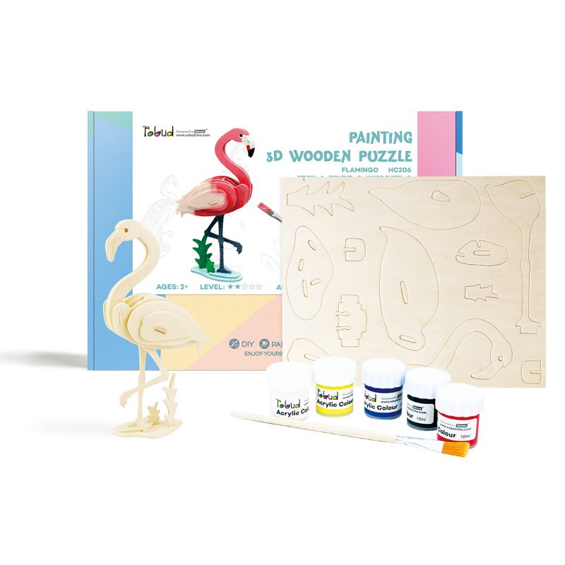3D painting puzzle HC206 Flamingo