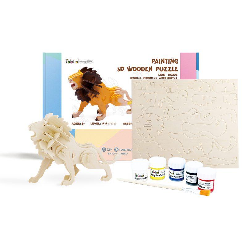 3D painting puzzle HC208 Lion
