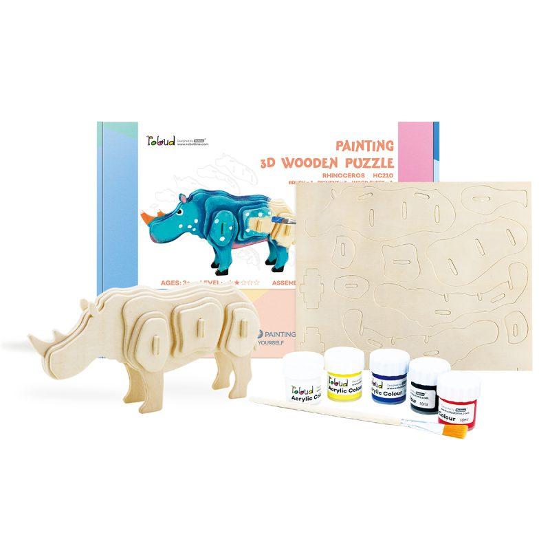 3D painting puzzle HC210 Rhinoceros