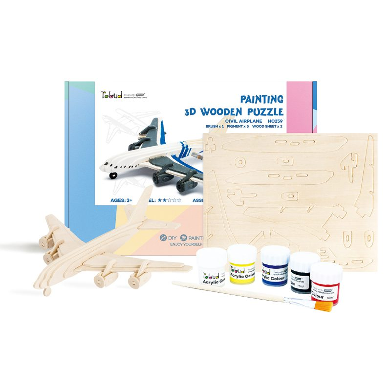 3D Painting Puzzle HC259 Civil Airplane