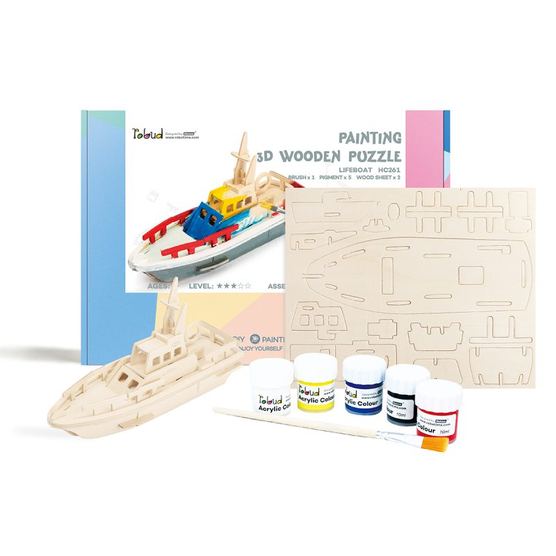 3D Painting Puzzle HC261 Lifeboat