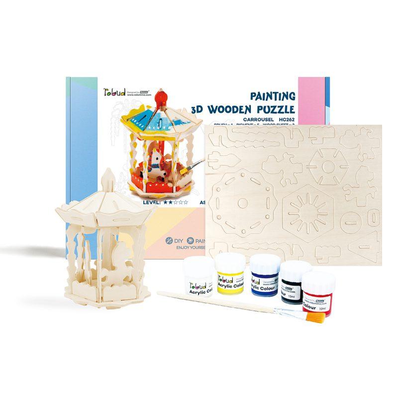 3D Painting Puzzle HC262 Carrousel