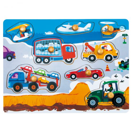 Peg Puzzle HP001 Busy Transportation