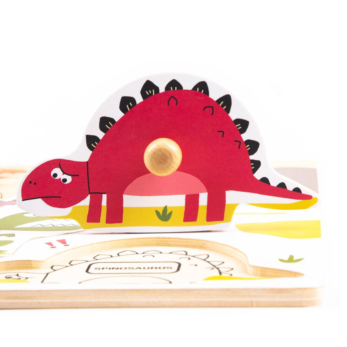 Peg Puzzle HP005 Jurassic Dinosaurs World