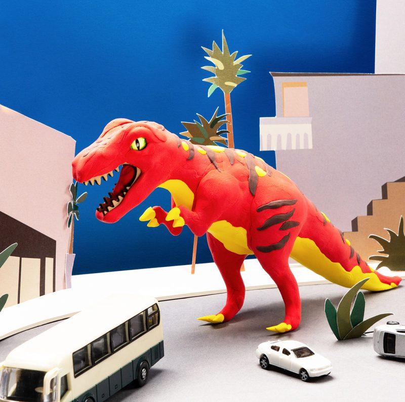 Modeling Clay / Dinosaur Park FY01 T-Rex
