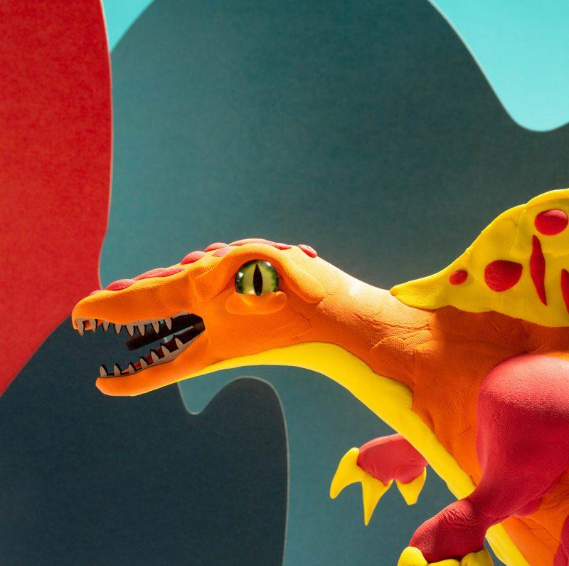 Modeling Clay / Dinosaur Park FY02 Spinosaurus