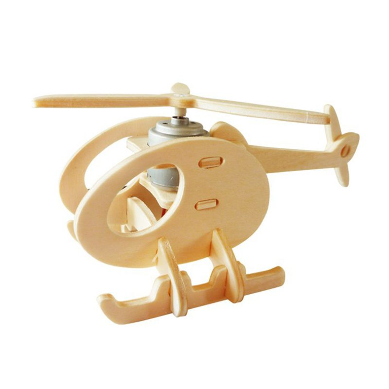 Aircrafts - Natural Wooden P230 Helicopter-A