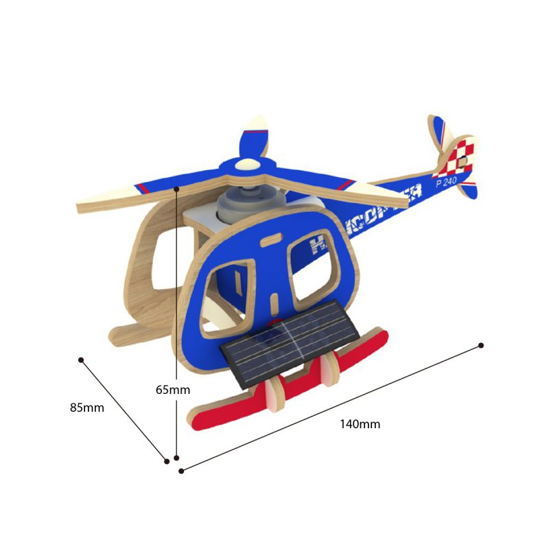 Aircrafts - Colorful Paper Coating P240S Helicopter-B