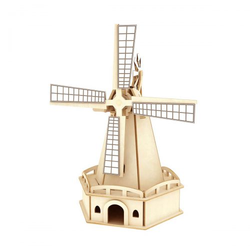 Windmills - Natural Wooden W140 Large Windmill