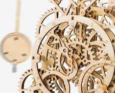 ROKR store - Pendulum Clock LK501, Wooden Clock Puzzle