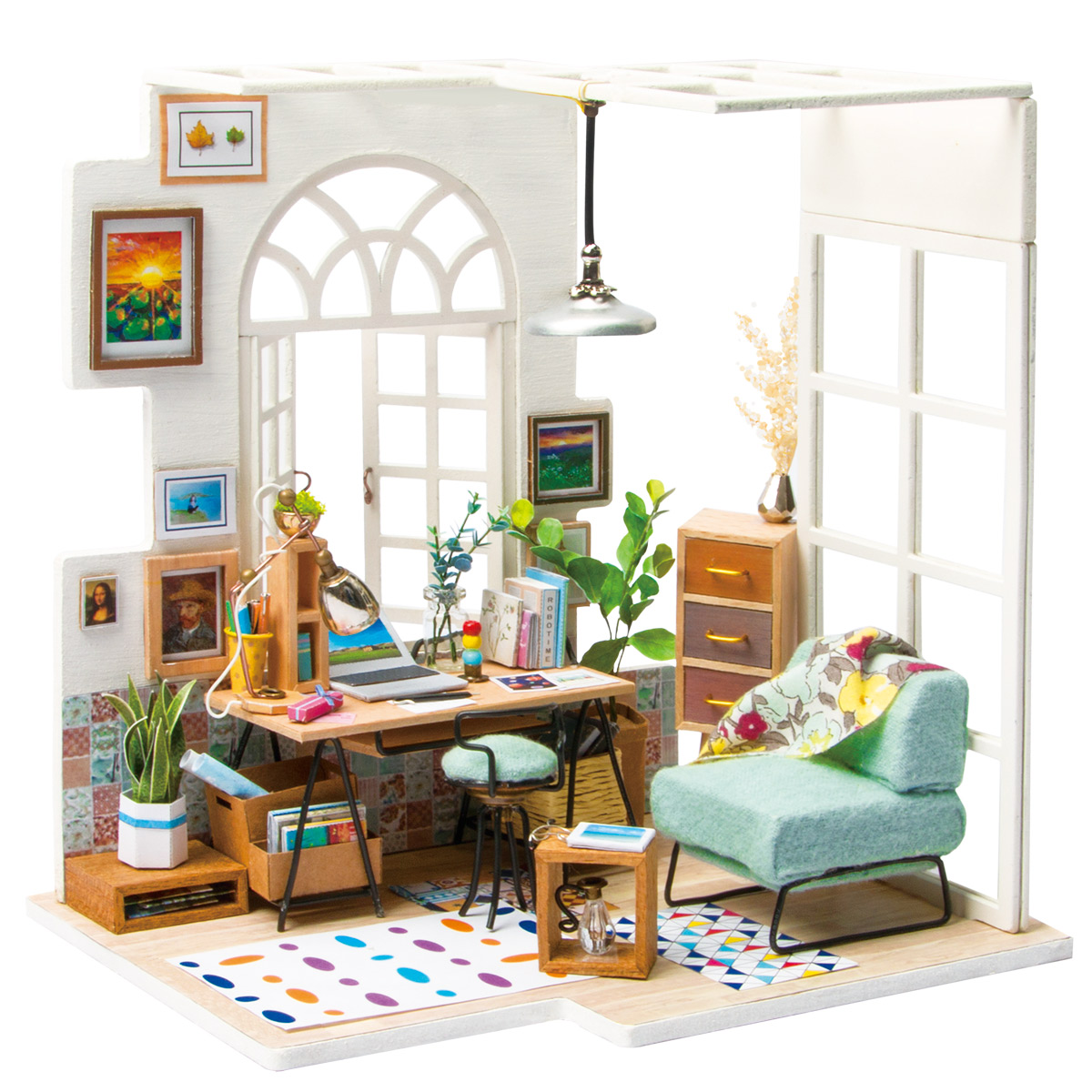 Rolife Miniature Dollhouse DGM01 SOHO Time as a beautiful home decor