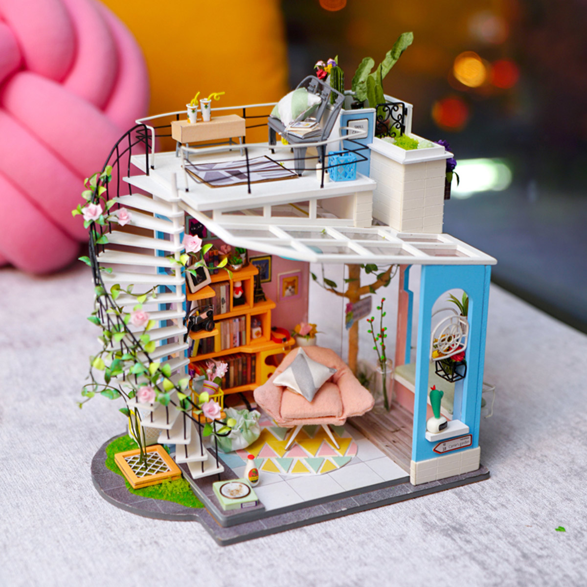 Rolife Miniature DG12 Dora's Loft as a beautiful home decor
