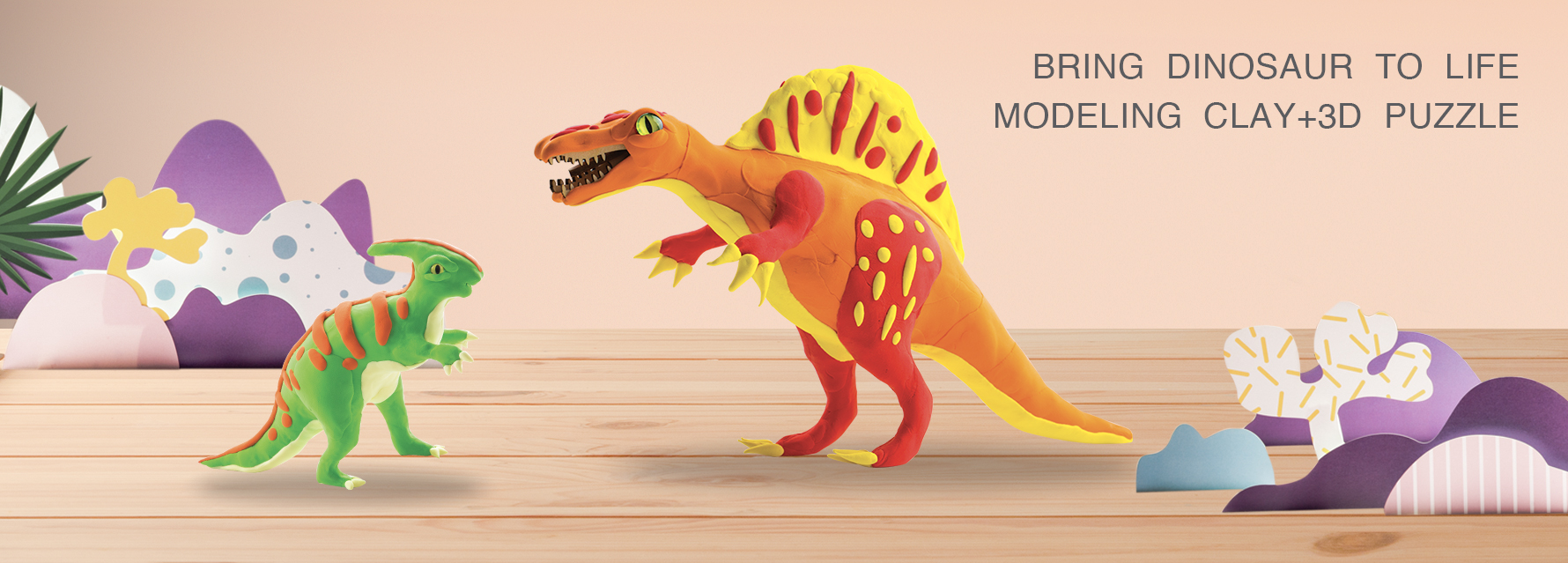 Robud 3D Modeling Clay Dinosaurs banner
