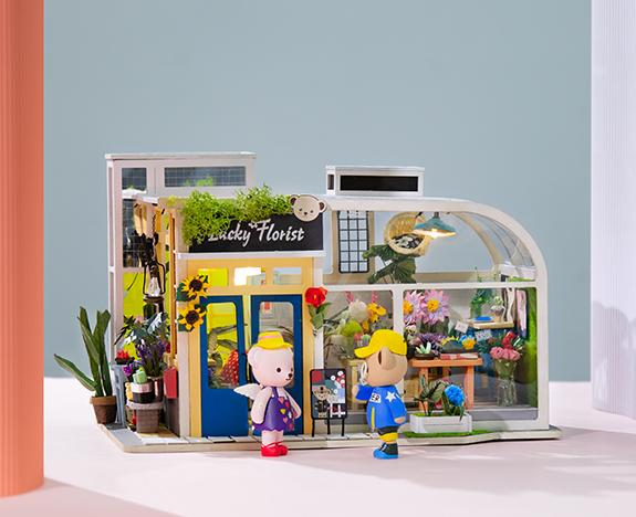 Rolife Teddy Miniature Dollhouse TD03 Lucky Florist banner