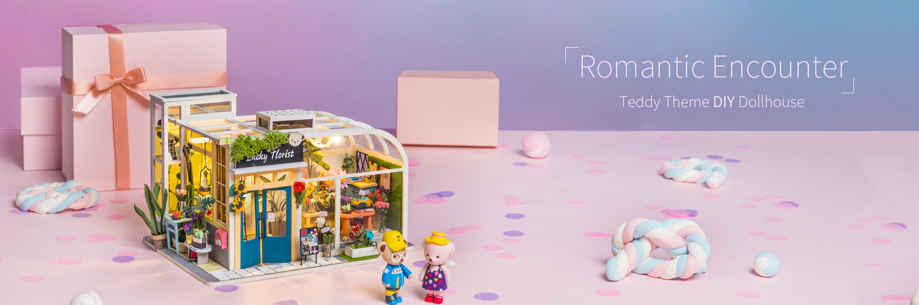 Rolife Teddy Miniature Dollhouse series with different lovely teddy bear figures