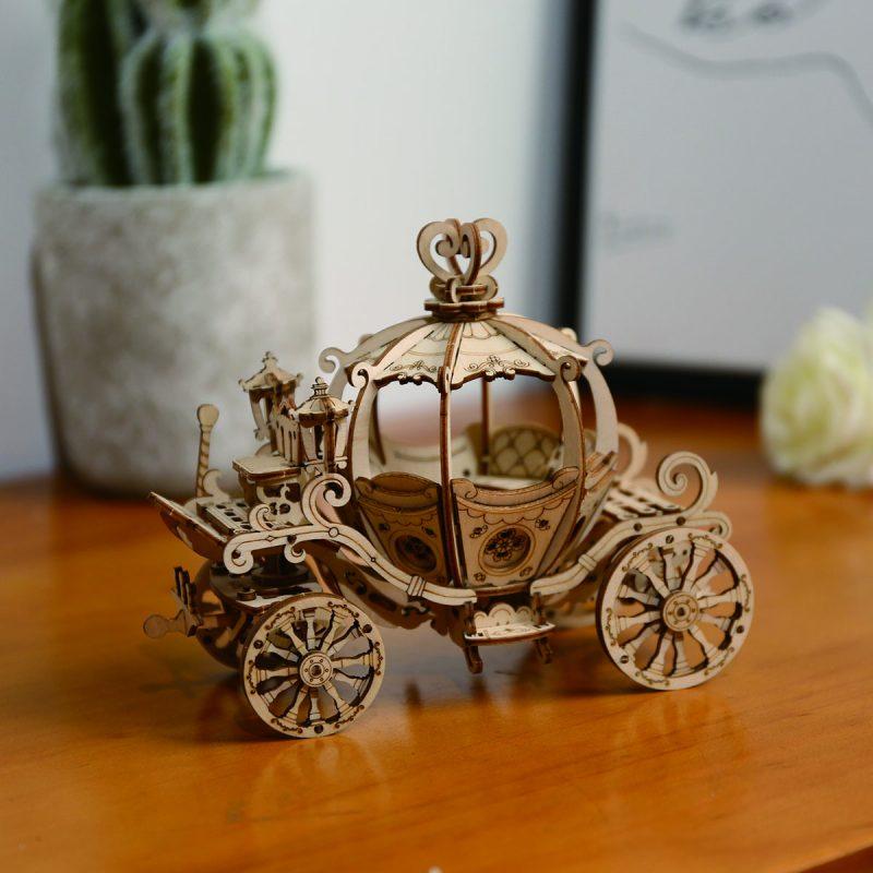 TG302 Pumpkin Cart 3d puzzles home decor