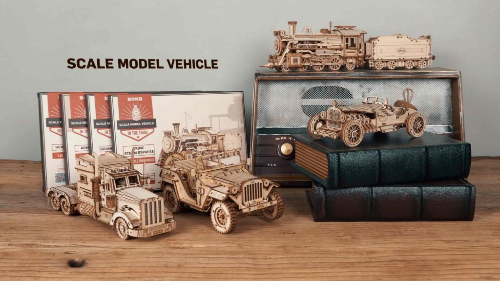 display of hour ROKR Scale Model Vehicles