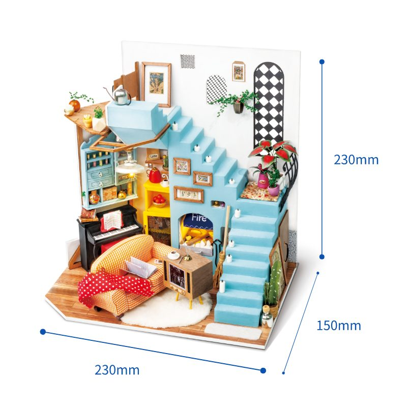 Robotime miniature DG141-size