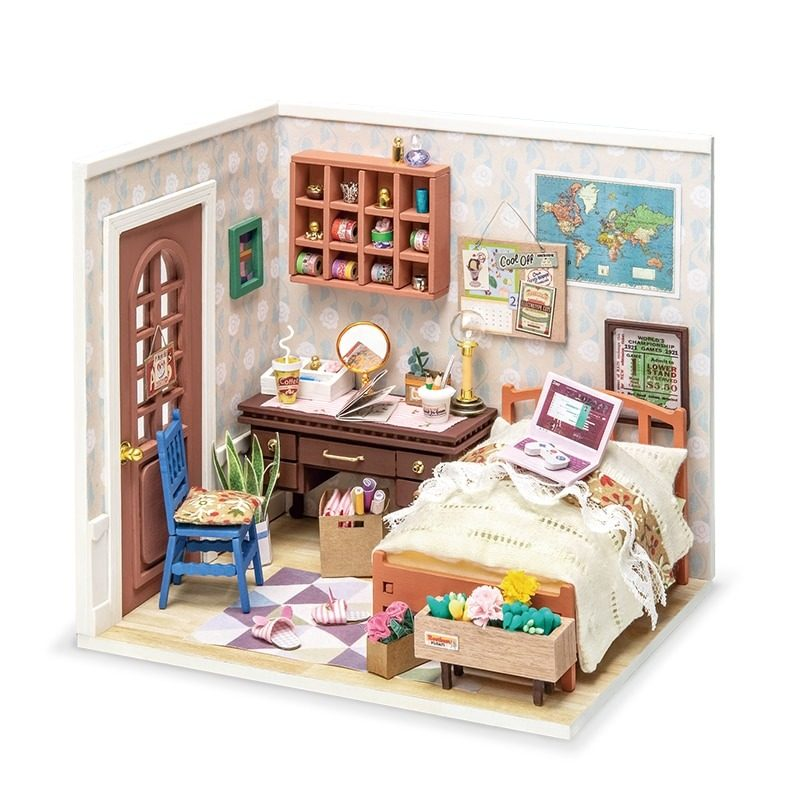 Robotime-DIY-Dollhouse-DGM08-anne-s-bedroom
