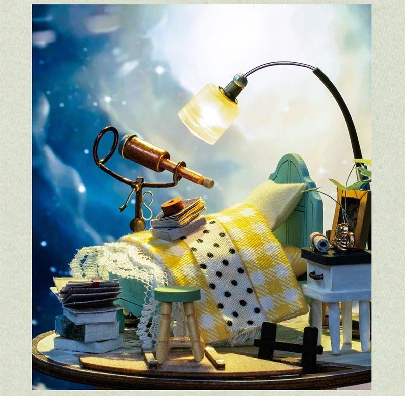 Domed Loft DIY Glass Miniature Dollhouse kit DS001