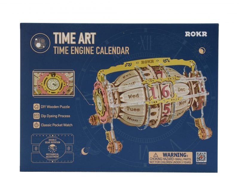 Time Engine Calendar 3D Wooden Puzzle LC801